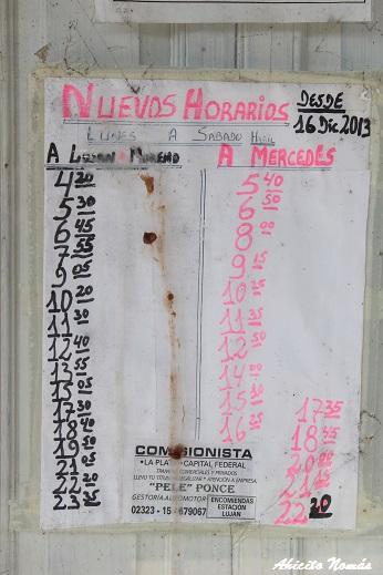 Horarios de FFCC Sarmiento