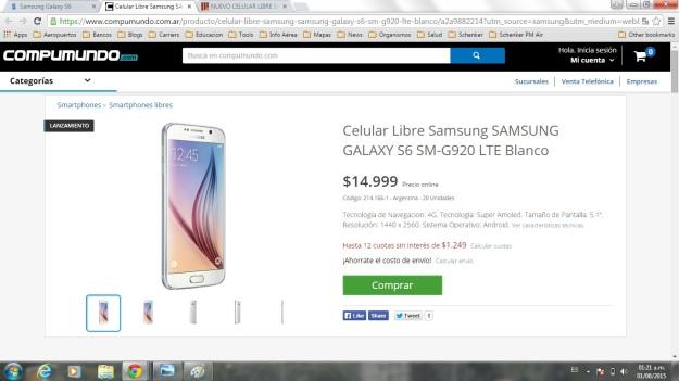 Samsung S6 AR
