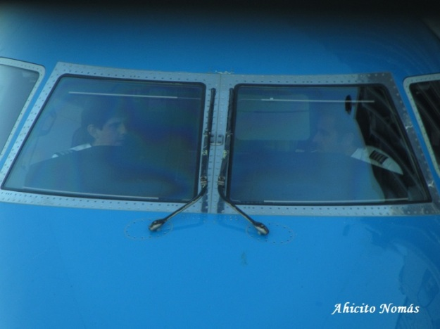 Dentro del cockpit