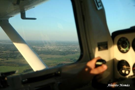 Vista desde el cockpit
