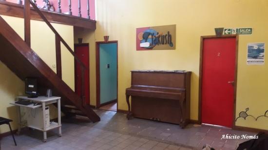 Hall central con piano