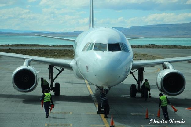 A320 recien llegado a FTE