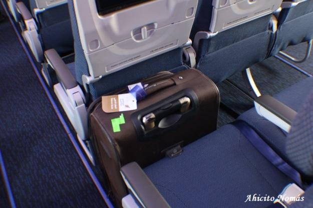 Economy espacio entre asientos