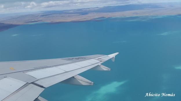 Virando sobre el Lago Argentino
