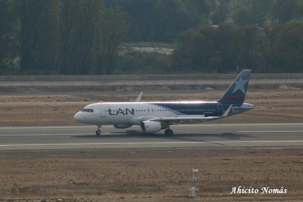 A320 Lan frenando