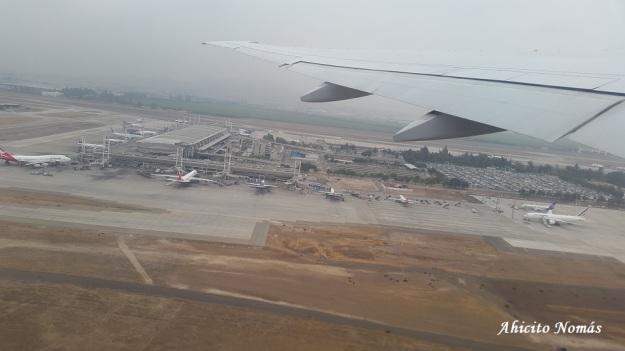 Aeropuerto SCL desde el aire
