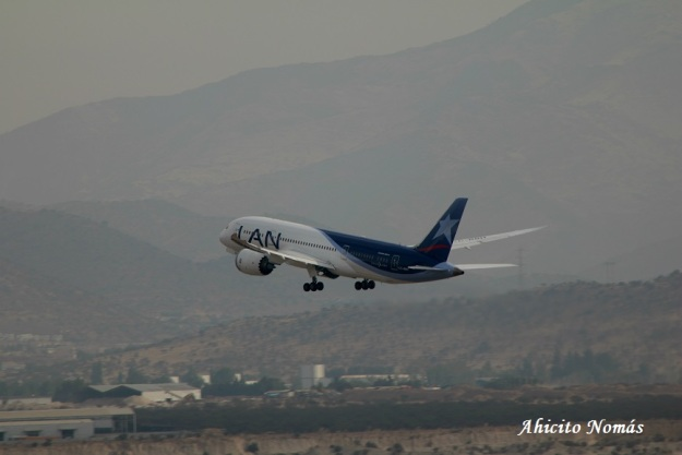 B787 en el aire