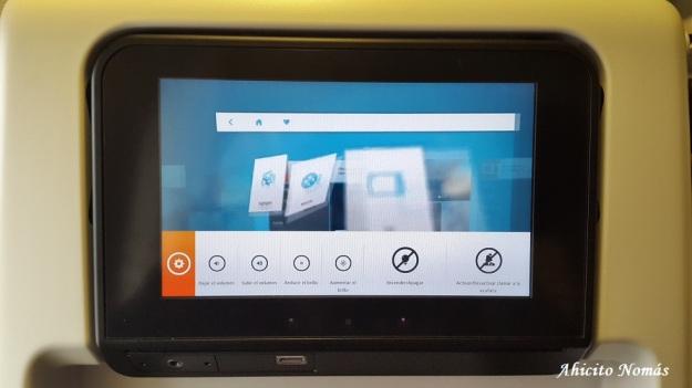Controles en la touch screen
