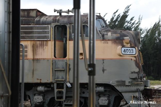 Locomotora 4033 desde vagon