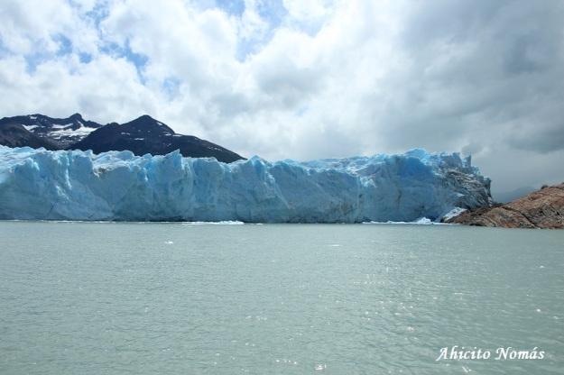 Pared de hielo desde lejos