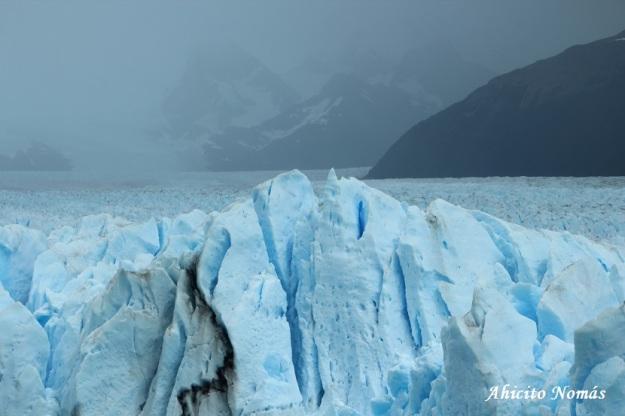 Superficie de hielo irregular