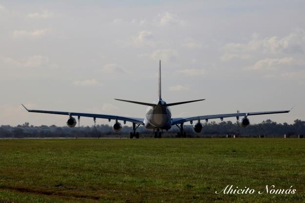 A340 de espaldas
