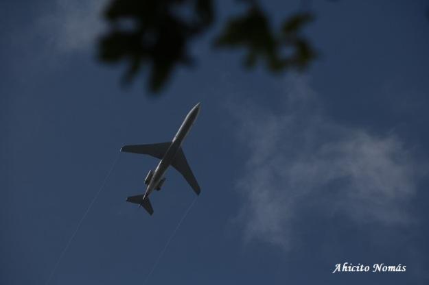 Avion sobrevolando