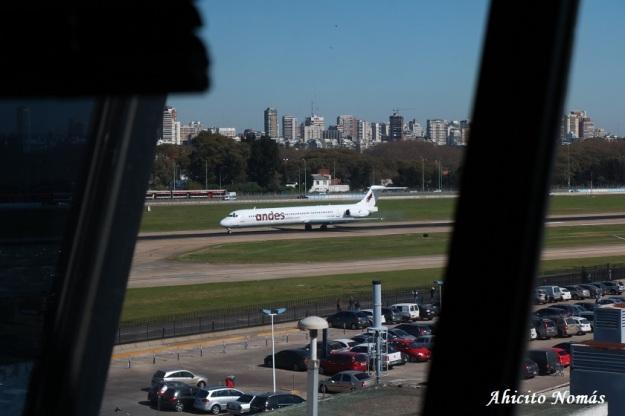 Aterrizaje Andes visto de la TWR